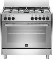 La Germania AMN965EXV Cucina a Gas 5 Fuochi Forno Elettrico Grill 90x60 cm Inox