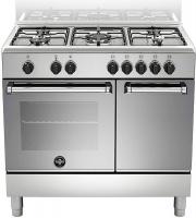La Germania AMN9P5EXV Cucina a Gas 5 Fuochi Forno Elettrico 90x60 cm Inox