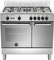 La Germania AMN9P5GXV Cucina a Gas 5 Fuochi Forno a Gas Grill Elettrico 90x60 cm