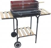 Lapillo 11327 Barbecue Carbonella Portatile Acciaio BBQ Giardino con Rotelle