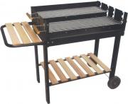 Lapillo 11349 Barbecue Carbonella Portatile Acciaio BBQ Giardino con Rotelle