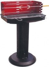 Lapillo 11787T Barbecue Carbonella Portatile Acciaio BBQ Giardino con Piantana