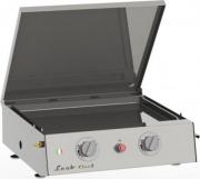 Leab CICO 2F Griglia Barbecue con Piastra Inox Cassetto raccogligrasso