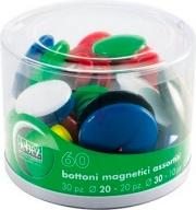 Lebez 2777 Confezione 60 barattolo Bottoni Magnetici Ass