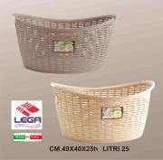 Lega LG0602 Cesta Ovale Grande Rattan lt 25 cm 49x40x25h