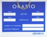 Letterfix T00176 Cartello Orario Apertura Tempopol Rosso cm 15x11