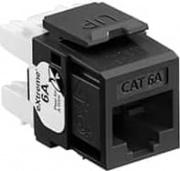 Leviton 6110G-RE6 Presa Modulo Ethernet RJ 45 Nero