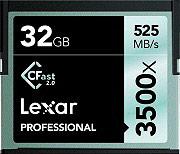 Lexar LC32GCRBEU3500 Scheda di Memoria Compact Flash 32 Gb 3500x CFast 2.0