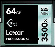 Lexar LC64GCRBEU3500 Scheda di Memoria Compact Flash 64 Gb 3500x CFast 2.0