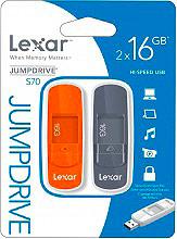 Lexar Pen drive chiavetta USB 2.0 16 GB 2 pz LJDS7016GABEU002 932584