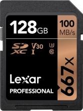 Lexar LSD128B667 SDXC 128GB Classe 10  UHS-I U3  V30 Professional 667x