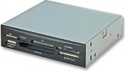 LINDY 42729 Card Reader Lettore di Schede Interno USB 2.0 colore Nero, Argento