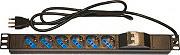 "L-Link LK10050 Multipresa 6 Posti e Salvavita per Armadio Rack 19"""