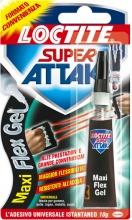 Loctite 2047416 Adesivo istantaneo Gel impermeabile Super Attak 10 gr  Flex Gel