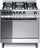 Lofra MG86MFC Cucina a Gas 5 Fuochi con Forno Elettrico Ventilato 80x60 cm Inox