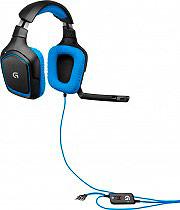 Logitech Cuffia Gaming 7.1 ad Archetto con microfono telecomando 981000537 G430