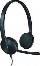 Logitech Cuffie Stereo per PC ad Archetto con Microfono Nero - H340 - 981-000475