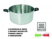 Lopardo Inox 990172 Casseruola Inox 2 Manici cm 30 per Induzione