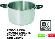 Lopardo Inox 990226 Pentola Inox 2 Manici cm 22 per Induzione