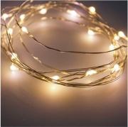 Lotti 32309 Filo 120 microled Bianco caldo Luci luminarie Batteria Interno