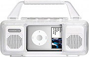 Lovemytime EM110331415 Docking Station per iPod con Altoparlanti Stereo Bianco