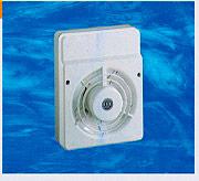 LUX V12 Aspiratore elettrico Centrifugo da parete materiale termoplastico