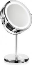 MACOM 213 Doppio Specchio Make Up Trucco da Tavolo Rotante con Luce LED