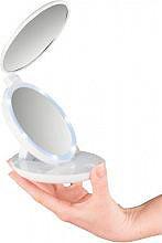MACOM Specchio luminoso mini da viaggio e borsetta LED col Bianco 218