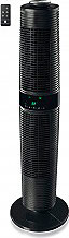 MACOM 994 Ventilatore Colonna a Torre Telecomando senza Pale Nero DOUBLE ROTO WIND