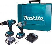 MAKITA Kit Trapano avvitatore cpercussione + Avvitatore impulsi 18V Litio DK18015