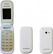 "MASTER MF016 Telefono Cellulare GSM Dual Band display 1,8"" Radio FM Bianco"