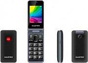 MASTER Telefono Cellulare per Anziani Dual Sim Tasti Grandi SOS Rosso MF021S