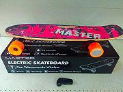 MASTER SKATEWOOD Skateboard elettrico 18 Kmh 10Km Ricaricabile Viola