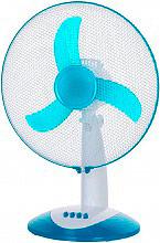 MASTER VE40 Ventilatore da Tavolo a Pale ø 40 cm Oscillante Timer Bianco