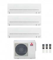 MITSUBISHI MSZ-AP25+25+35VG-K+MXZ-3F54VF3 Climatizzatore Trial Split Inverter 9+9+12 Condizionatore MXZ3F54VF330