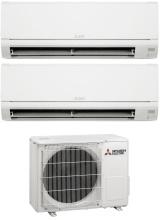 MITSUBISHI MSZ-HR25+35VF+MXZ-2HA50VF Climatizzatore Dual Split Inverter 9+12 Condizionatore 2HA50VF Smart