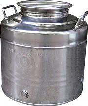 Maffei Contenitore Bidone Fusto Olio Acciaio Inox 20 litri