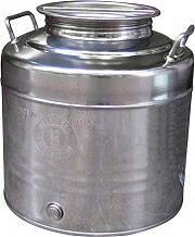Maffei Contenitore Bidone Fusto Olio Acciaio Inox 50 litri