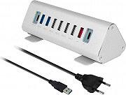 Macally TRIHUB9-EU Hub USB 9 porte USB Alimentato Lunghezza cavo 80 cm