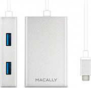 Macally HUB USB 3.0 4 porte USB connettore USB Type-c UC3HUB