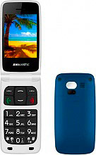 NEW MAJESTIC 300141_CB Telefono Cellulare 2.4 TFT Bluetooth 300141 TLF-SILENO 41N FLIP BLU