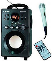 NEW MAJESTIC Sistema Micro Hi Fi Mp3 con ingresso microfono 6 W USB AH239K