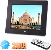 "NEW MAJESTIC DF-938 MP3 Cornice Digitale 8"" lettore SD  MMC  SDHC colore Nero"