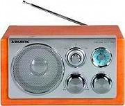 NEW MAJESTIC Radio Portatile Am Fm con AUX per MP3 Display LCD col. Legno WR168AX