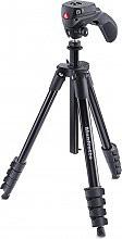 Manfrotto MKCOMPACTACN-BK Cavalletto Fotocamera Treppiede h max 155 cm -  Compact