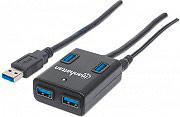Manhattan 162302 Hub USB 3.0 4 Porte -  IUSB3-HUB4-BKP