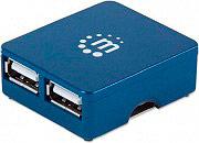 Manhattan IUSB2-HUB605 Hub Usb Micro Hub 4 Blu