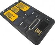 Techly I-SIM-5 Adattatori schede SIM con Micro Lettore USB di MicroSD