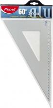 Maped 100089 Squadra 32 cm 60° Alluminio