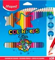 Maped 183224 Confezione 24 Pastelli Triangolari Color Pep